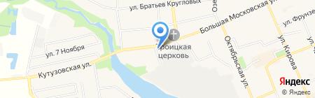 Аптека на Большой Московской на карте Старой Купавны