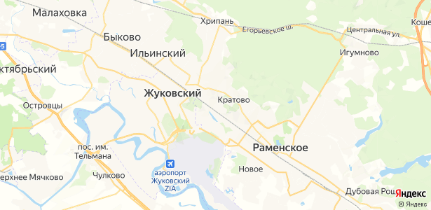 Кратово на карте