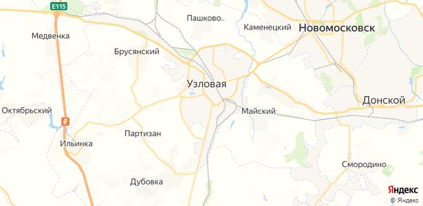 Узловая на карте