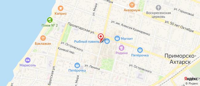Карта расположения пункта доставки СИТИЛИНК в городе Приморско-Ахтарск