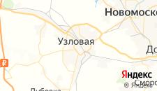 Отели города Узловая на карте