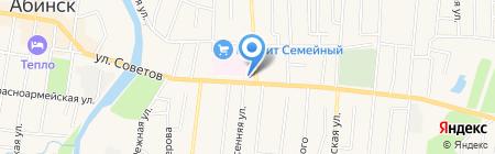 Центральная районная больница на карте Абинска