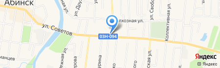 Банкомат Крайинвестбанк на карте Абинска