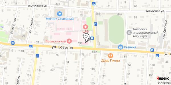 Банкомат, Крайинвестбанк. Схема проезда в Абинске