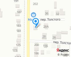 Схема местоположения почтового отделения 353322