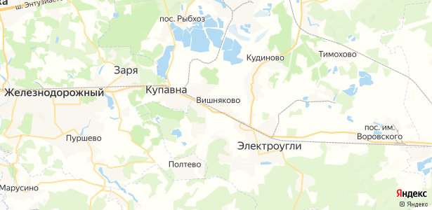 Вишняково на карте