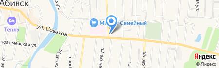 СВЯЗНОЙ на карте Абинска