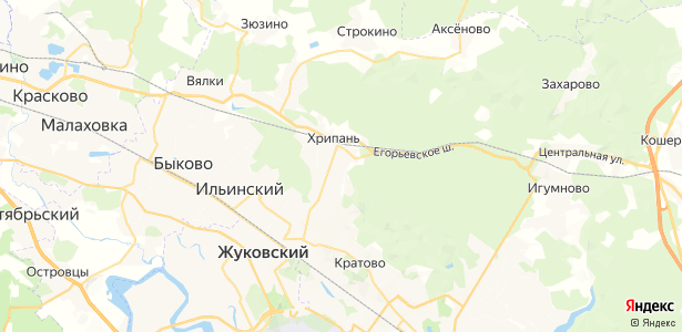 Хрипань на карте