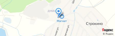 Почтовое отделение №140163 на карте Строкино