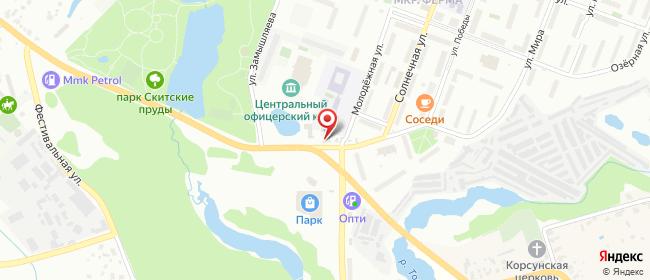 Карта расположения пункта доставки На Ферме в городе Сергиев Посад