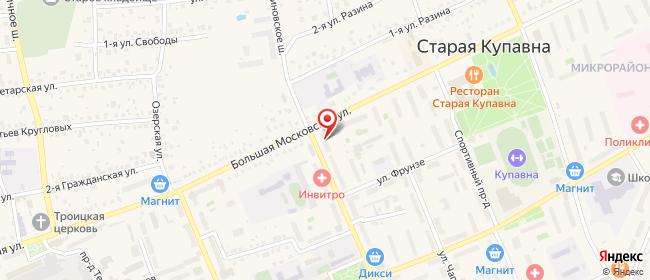 Карта расположения пункта доставки Старая Купавна Кирова в городе Старая Купавна