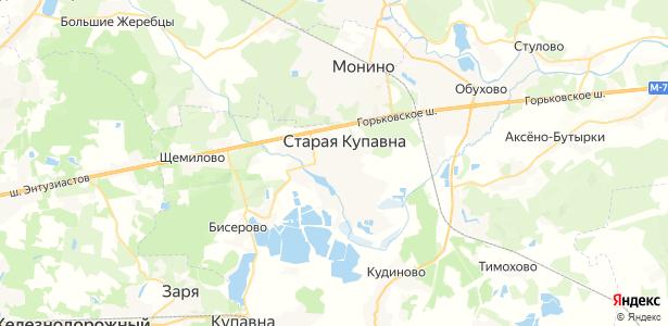 Старая Купавна на карте