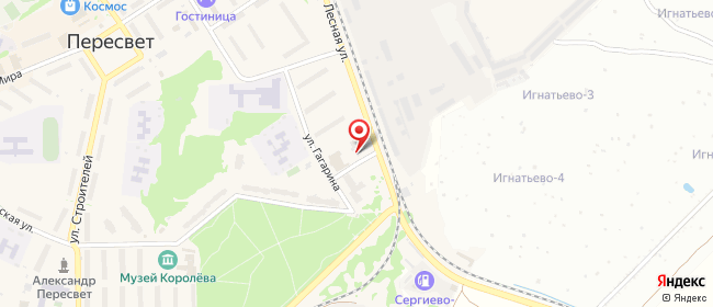 Карта расположения пункта доставки Халва в городе Пересвет