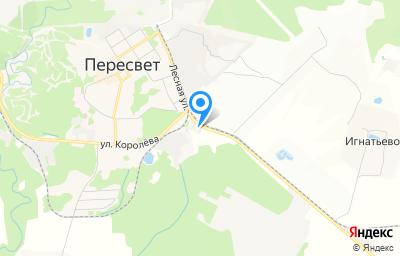 Местоположение на карте пункта техосмотра по адресу Московская обл, г Сергиев Посад, г Пересвет, ул Гагарина, д 5А