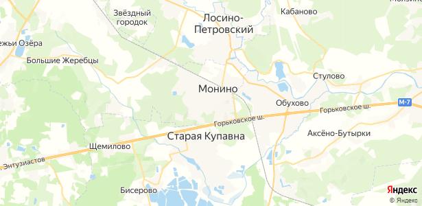 Монино на карте