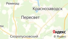 Отели города Пересвет на карте