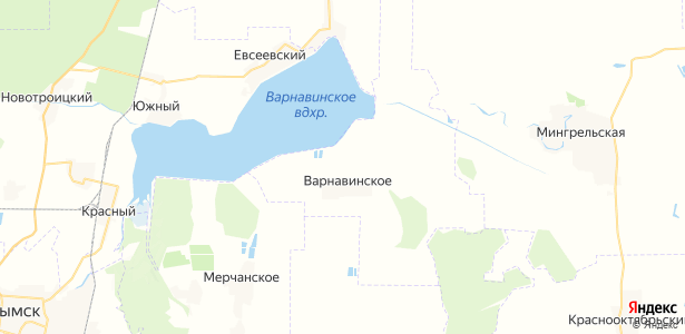 Варнавинское на карте