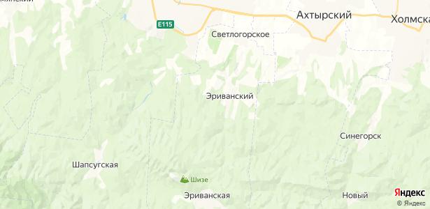 Эриванский на карте