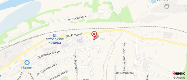 Карта расположения пункта доставки Халва в городе Кашира