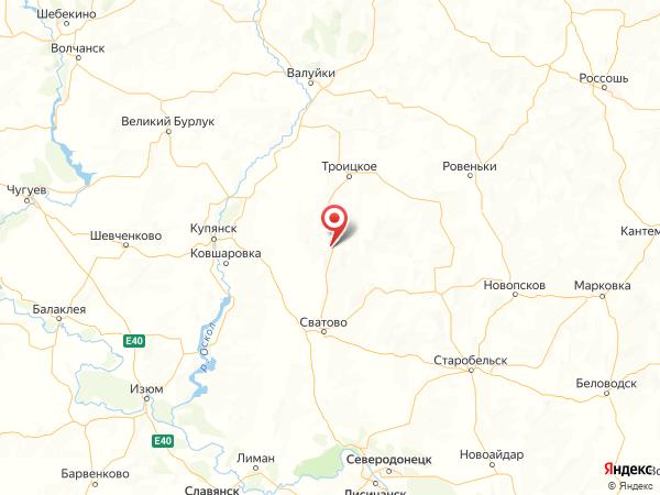 село Куликовка на карте