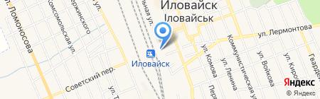 Иловайский железнодорожный вокзал на карте Иловайска