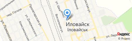 Еленовская мука на карте Иловайска
