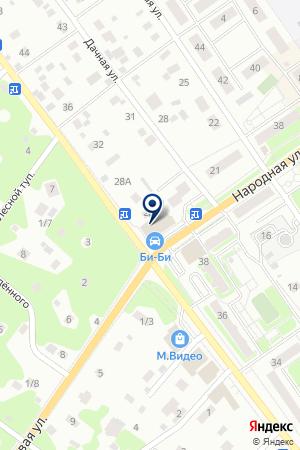 Магазин крепежа на карте Раменского