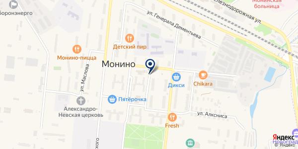 Моня на карте Монино