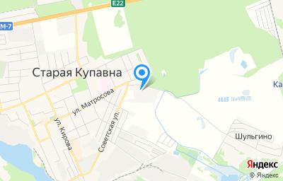 Местоположение на карте пункта техосмотра по адресу Московская обл, г Ногинск, г Старая Купавна, ул Советская, д 1А