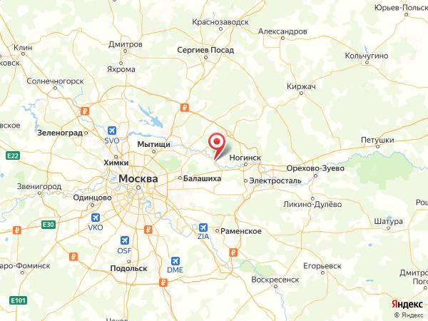 Лосино-Петровский на карте