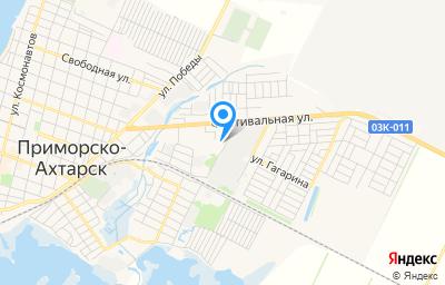 Местоположение на карте пункта техосмотра по адресу Краснодарский край, г Приморско-Ахтарск, ул Фестивальная, д 16