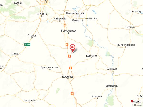 поселок Станция Дворики на карте