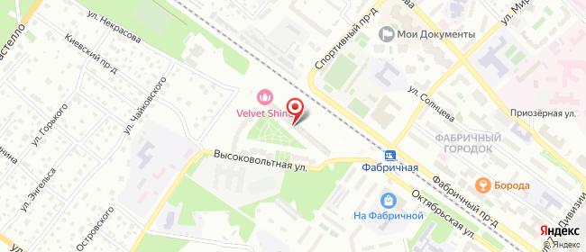 Карта расположения пункта доставки На Высоковольтной в городе Раменское