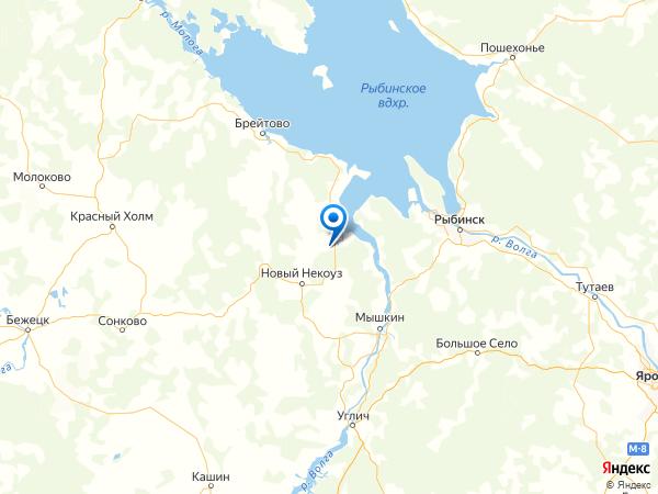 местечко Андреевское на карте