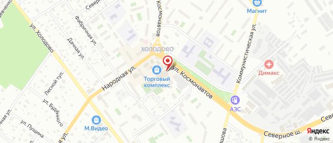 Карта расположения пункта доставки Раменское Космонавтов в городе Раменское