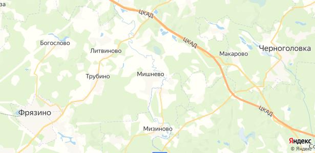 Мишнево на карте