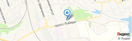 Локомотив на карте Иловайска