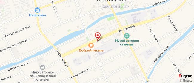 Карта расположения пункта доставки мкр. Северный в городе Полтавская