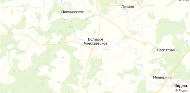 Большое Алексеевское на карте