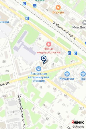Юлия на карте Раменского