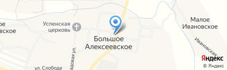 Магазин хозяйственных товаров на Центральной на карте Большого Алексеевского