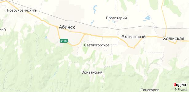 Светлогорское на карте