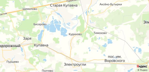 Кудиново на карте