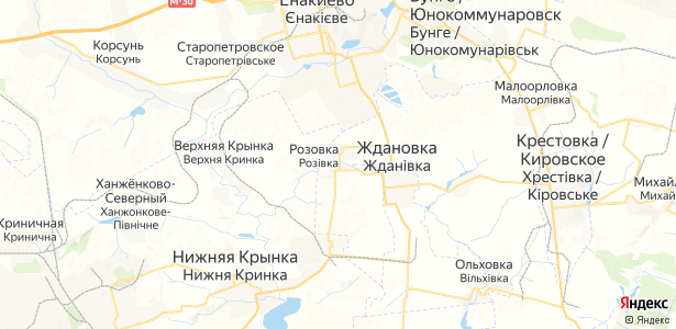 Розовка на карте