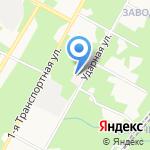 Поликлиника №4 на карте Новомосковска