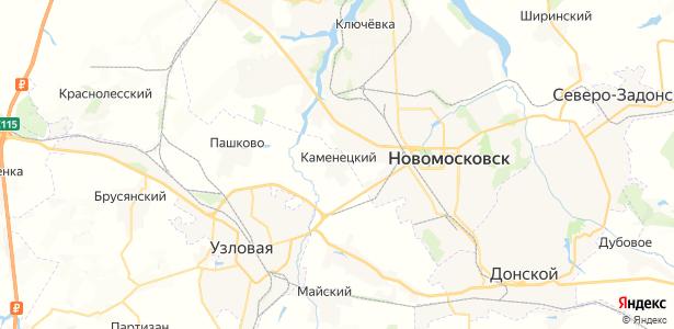 Каменецкий на карте