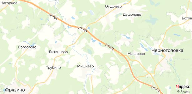 Аксиньино на карте