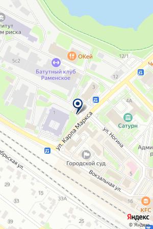 РАМЕНСКОЕ ОТДЕЛЕНИЕ КБ СДМ-БАНК на карте Раменского