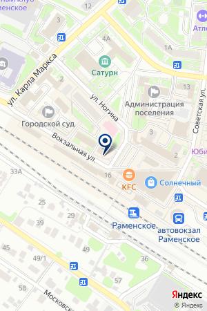 ТФ САНТИ на карте Раменского