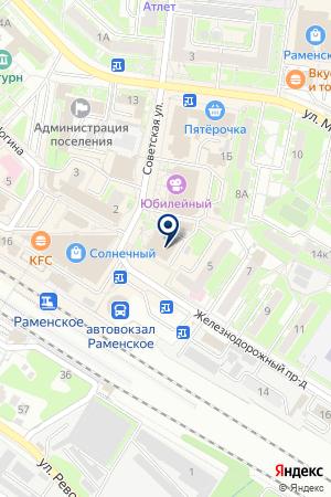 ОХРАННОЕ ПРЕДПРИЯТИЕ СТРАЖ на карте Раменского